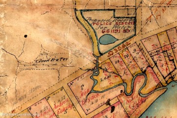 Boundary Creek (Milton), as depicted in 1850.