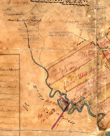 Western Creek and Red Jacket Swamp, as depicted in 1850.
