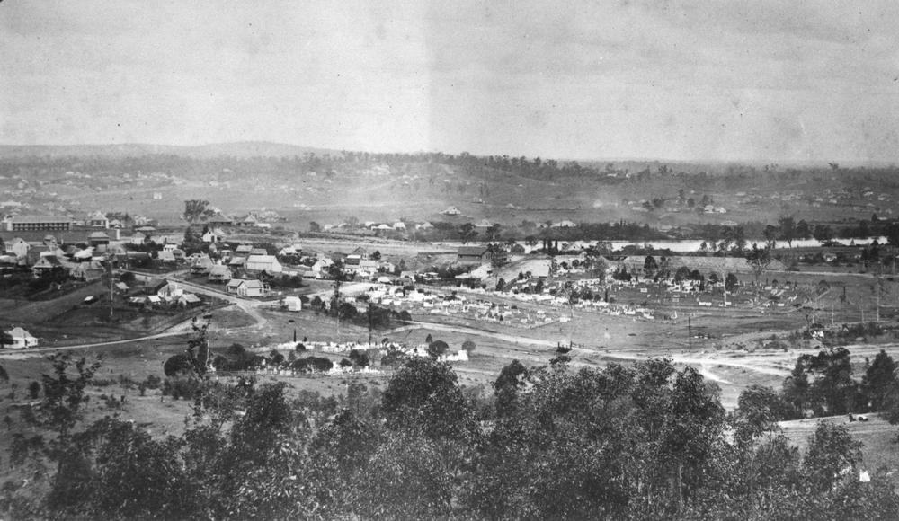 The North Brisbane Burial Grounds, Milton, 1870.
