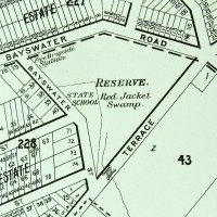 Present-day Gregory Park as depicted on McKeller's map of Brisbane, 1895. (Brisbane City Council Archives)