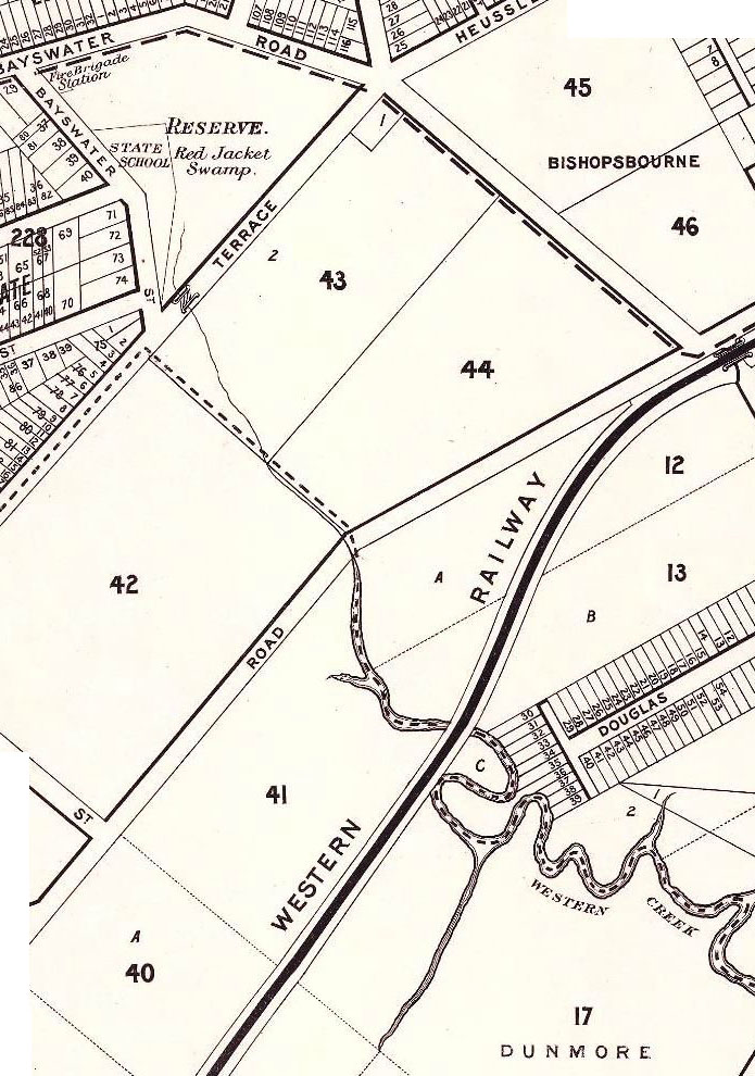 A section of McKellar's 1895 map of Brisbane (retrieved from the Queensland Historical Atlas)