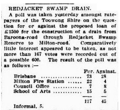 Clipping from The Brisbane Courier, 20 November 1896, p4.