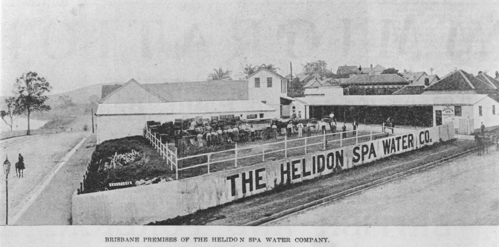 The Helidon Spa bottling factory at North Quay, 1899.