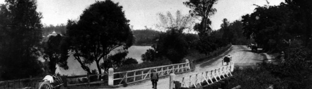 The Langsville Bridge at Auchenflower, ca. 1914. John Oxley Library, State Library of Queensland, Neg: 10579.