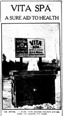 An ad for 'Vita Spa' (sold by Owen Gardner and Sons) printed in the Brisbane Courier in 1925.