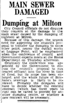 Concerns about the state of the main sewer were raised 12 months before it collapsed in April 1940.