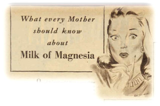 Part of an ad for Nyal Milk of Magnesia in the Australian Women's Weekly, March 1949
