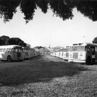 Buses at the CDOP site in 1976.