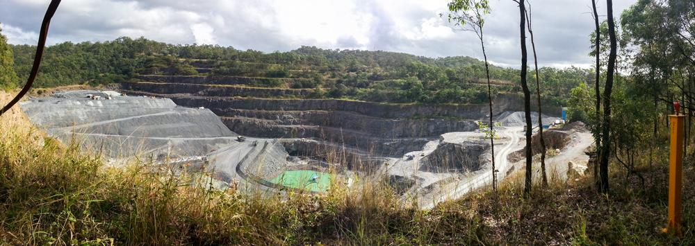 The Mount Coot-tha Quarry, seen from the edge of the botanical gardens.