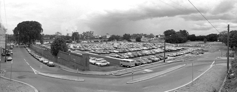 The park-and-ride site in 1982.