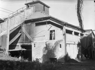 The decommissioned incinerator in 1949 .