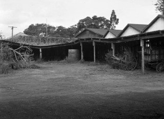 Sheds at the decommissioned sanitary depot in 1949.
