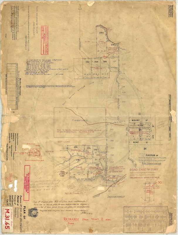 Survey Plan M.31.65 (Sheet 1), a re-drawn copy of the original on Sheet 2.
