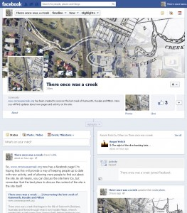 The facebook page for oncewasacreek.org