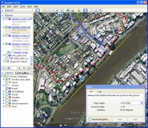 Finding Oxely's landing place using Google Earth