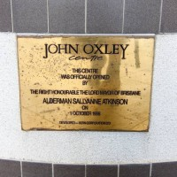 A Plaque in the John Oxley Centre