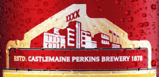 The Castlemaine Perkins brewery as depicted on a modern can of XXXX Bitter