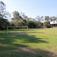 The sportsfield of Rainworth State Primary School